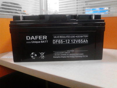 Dafer battery 12V65AHDAFER battery NP65-12UPS battery power supply special package mail