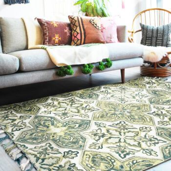Handmade wool carpet, living room, American style room, carpet, tea table, bedside blanket, 800MMx1500MM