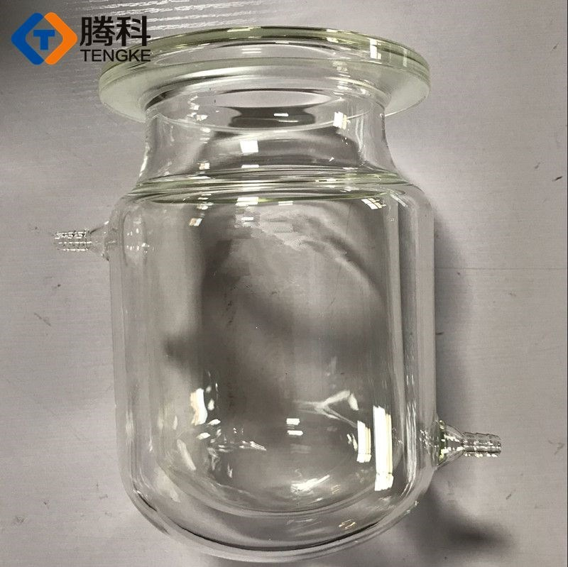 Jacketed reactor for 3L opening double-layer glass reaction kettle jacket 3000ml three or four port jacket reaction bottle