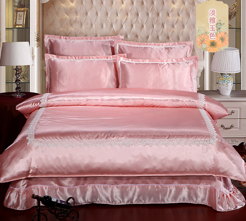 European silk quilt bedding sheets of 4 sets of four sets of Tencel 1.8/2.0m ice in summer