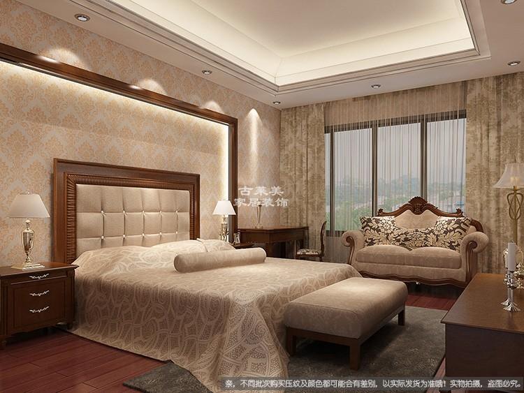 d105中pvc自粘墻紙歐式大馬士革酒店壁紙客廳臥室墻壁白灰墻粉刷墻貼紙