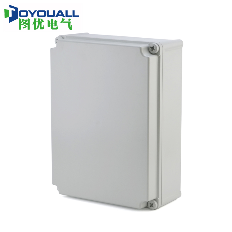 Figure TOYOUALL and 400*300*160 plastic hinge screw seal box rainproof waterproof electrical distribution box