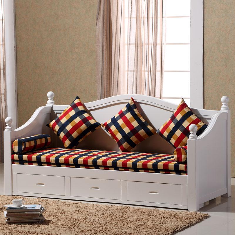 木造ソファベッドの小型多機能収納ツイ抽伸機両用折りたたみソファ韓式1 . 5メートルソファベッド