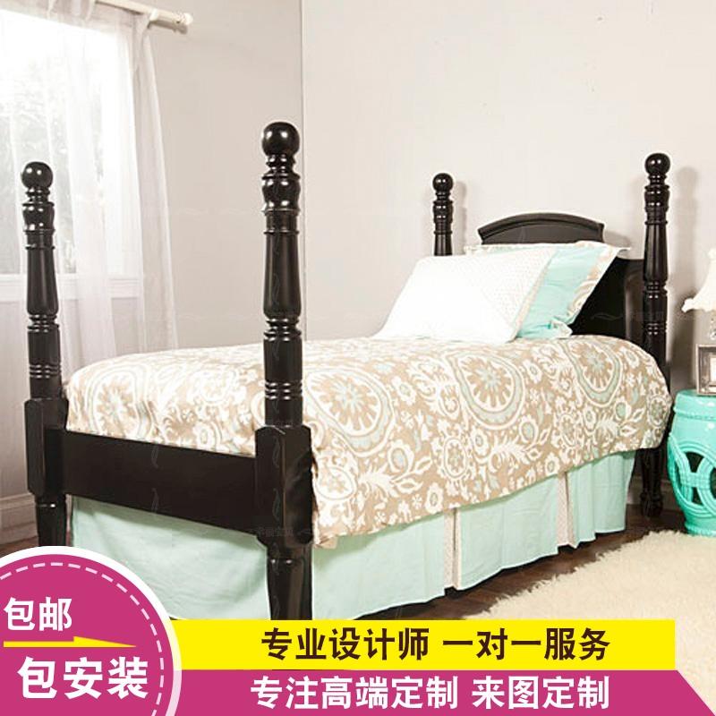 Детка, деревянная мебель заказ счастье детей Европейского Средиземноморья Корейская детская кровать ETC046 американский красный