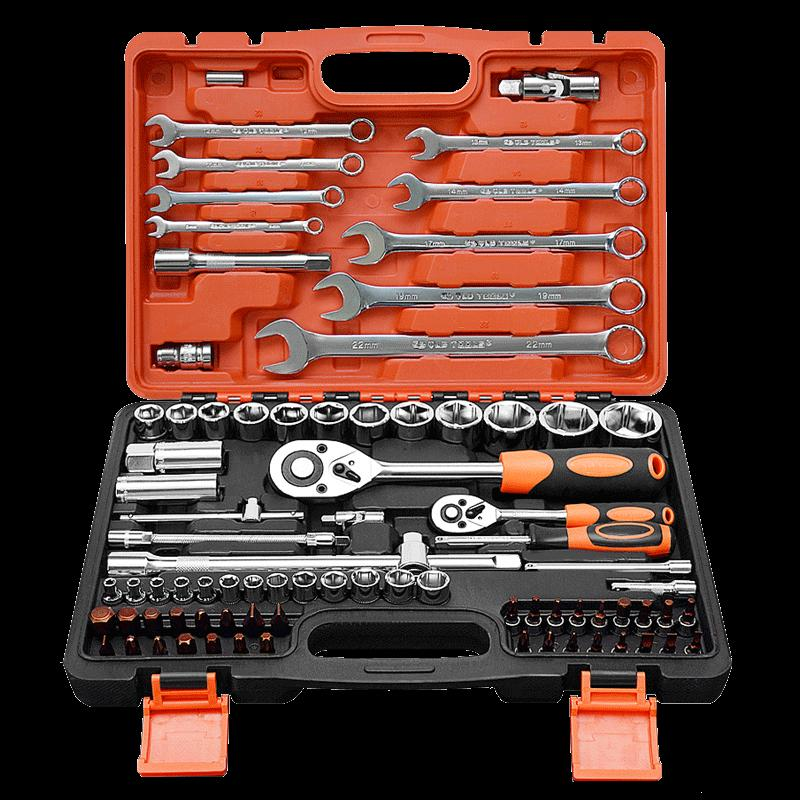 Automobile kit copper pressure special gloves, large quick sleeve wrench set, steam protection tool, auto repair worker