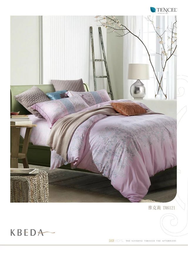 Manufacturers selling high-end bedding 60 double-sided sanding Tencel super soft velvet warm up four sets of Vic.