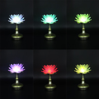 Buddhist supplies lotus light long light lamp for LED colorful Lotus Temple Buddha Temple lamp for headlight lamp