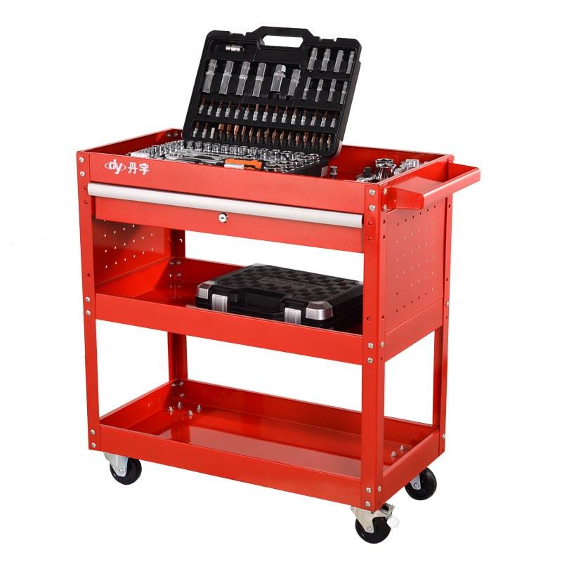 Herramientas la herramienta mover el coche del cajón de hierro carro multifuncional herramientas de reparación de partes de estanterías Push