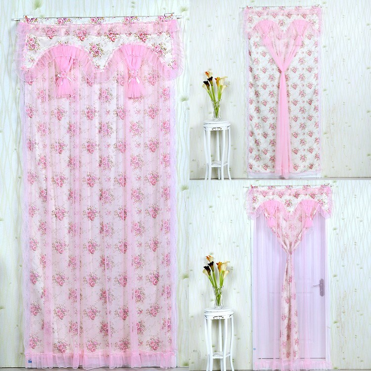 Bookshelf block curtain, cabinet dustproof door curtain, small window curtain, finished product partition kitchen, semi curtain lace
