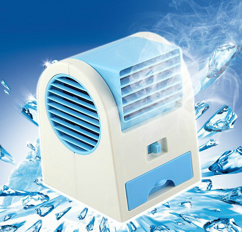 Small USB mini air conditioner, cooling fan, desktop student dormitory, portable non leaf non rechargeable battery home