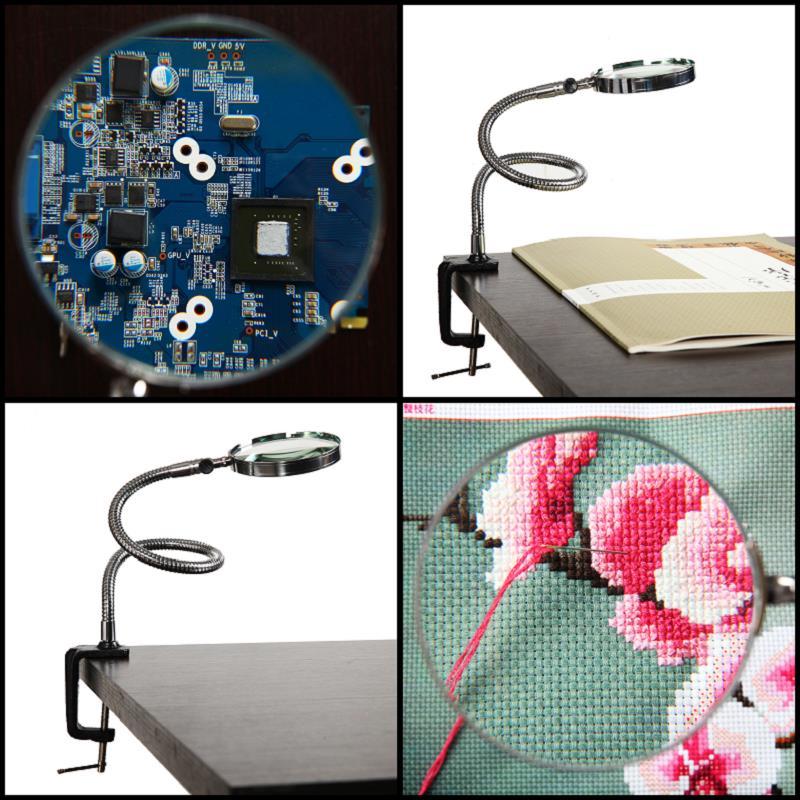 Mantenimiento de la electrónica de la máquina con la lupa de escritorio de Cruz clip HD grabado con la lectura de la mano de El viejo