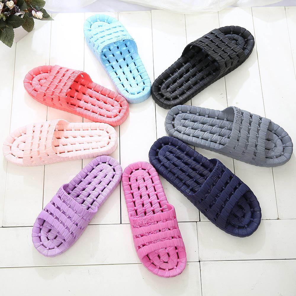浴室拖鞋防滑洗澡漏水居家室內木地板男女塑料家居情侶涼拖鞋夏季