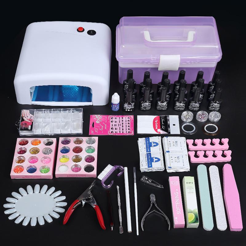 Manicure hand pillow, hand pad set, nail polish glue, PU cortex quadrate hand pillow nail shop, with a full set of kit mail