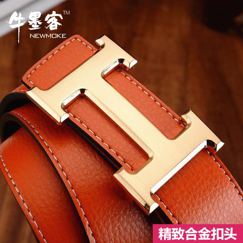 2007 el cinturón de cuero suave de Corea de ocio los jóvenes hombres de negocios simple cinturón de Inglaterra la hebilla de cinturón de marea de 8 caracteres
