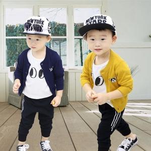 外套针织开衫男童2018新款春秋装空调针织衫韩版男宝宝1-3岁毛衣