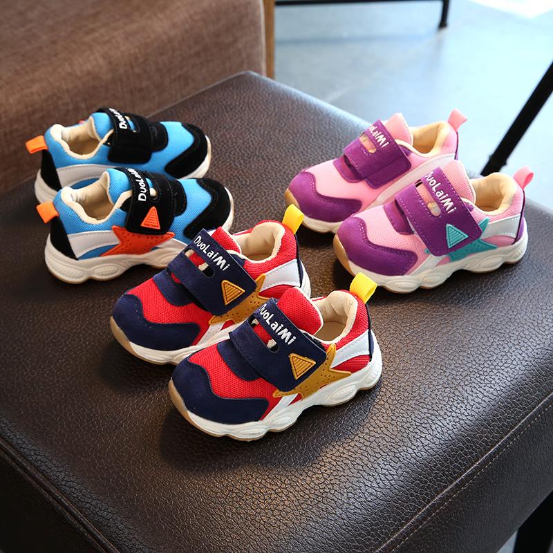 宝宝鞋子1-3岁鞋女童春秋学步鞋婴儿软底加绒机能鞋4-5岁小童鞋子