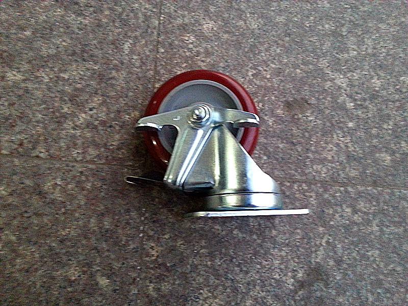 4 tommers keshun universelle band bremse hjul 2-4646-95BRK1 industrielle caster med 136 kg