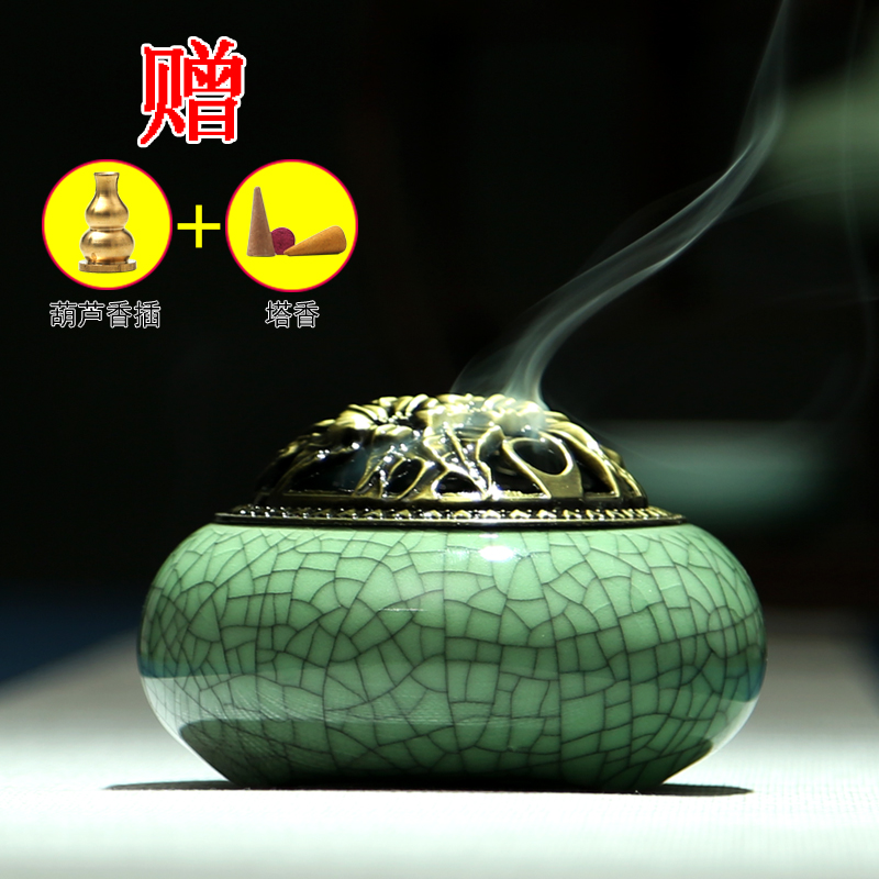 селадон Ароматерапия печи ручной керамики курили фимиам кадило ладан аромат сандалового дерева кадило