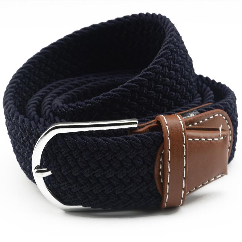 男性のキャンバスはベルトのゴムのベルトを編みて、ベルトの針のベルトの針のベルトの針はカジュアルにするのは休閑を掛けて、ファッションの広い女性の項を編制して