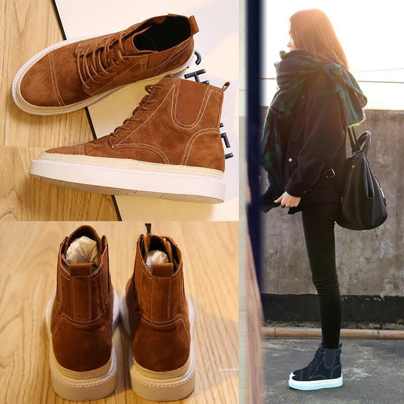 馬丁靴女英倫風棉鞋短靴學生鞋子韓版原宿秋鼕季靴子百搭平底女鞋