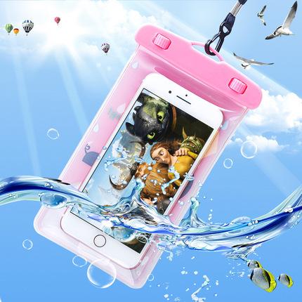 水下拍照手机防水袋温泉游泳玩手机男女水上夜光触屏包漂流潜水套