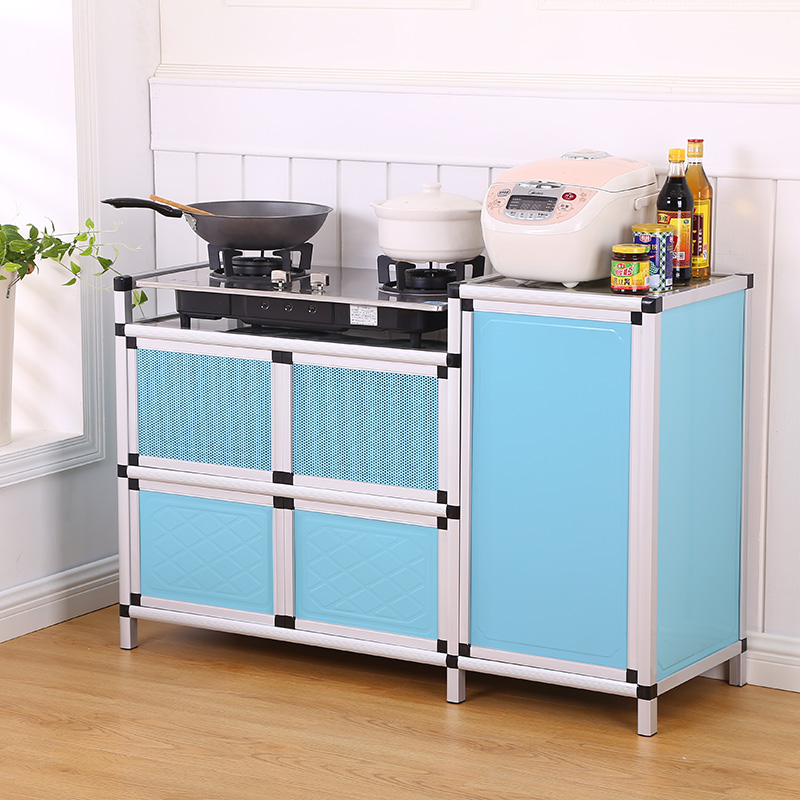 The tea storage cupboard kitchen stove cabinet cabinet cabinet cabinet cabinet room simple gas sideboard stainless steel