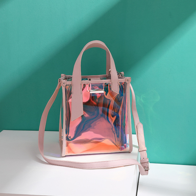 Shoulder Bag Transparent bag female 2018 new Korean version of the wild single shoulder small ck laser jelly package bag