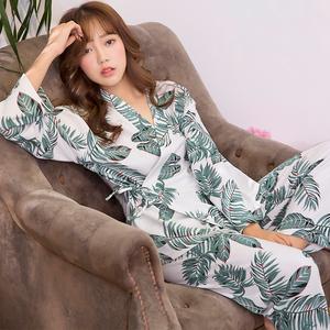 秋冬睡衣女春秋季韩版清新学生甜美可爱纯棉长袖和服家居服套装