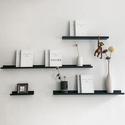 北欧铁艺墙上置物架现代简约墙壁书架壁挂展示架客厅背景墙装饰架