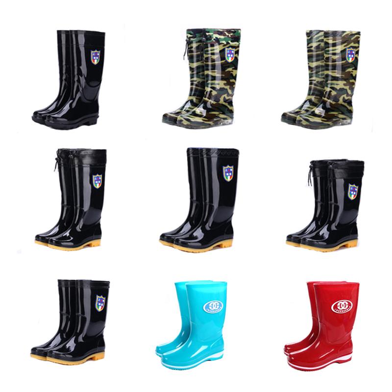 中筒雨鞋男士高筒水鞋女成人短筒雨靴水胶鞋防滑防水工作低帮水靴