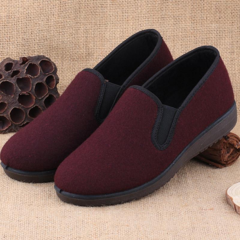 2017冬季老北京布鞋女棉鞋中老年软底老人防滑二棉保暖奶奶鞋棉鞋