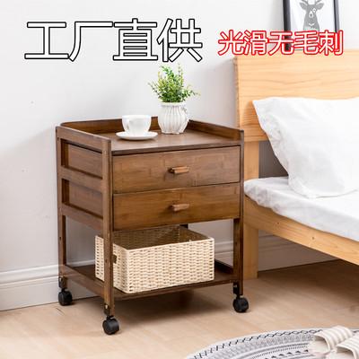 实木床头柜简约现代宿舍收纳柜经济型床边小柜子楠竹储物柜边几柜