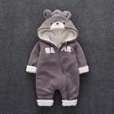 婴儿连体衣秋冬季加厚棉衣男女婴幼哈衣新生儿3-6-12个月宝宝衣服