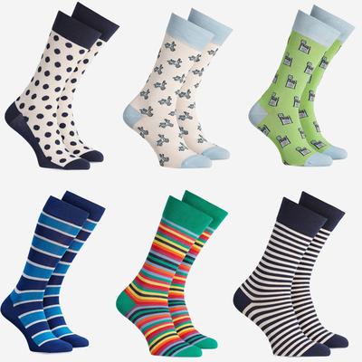 兔几袜几 外贸波兰潮袜北欧风彩色条纹波点纯棉男袜女