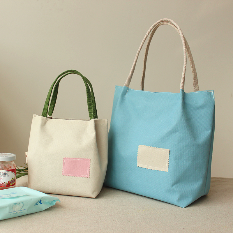 便当包饭盒袋手提包午餐包帆布环保袋小饭盒包日式收纳袋防水