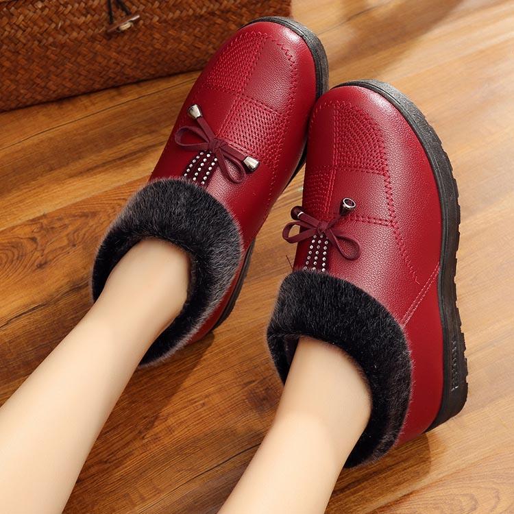 冬季老北京布鞋女鞋高帮防滑厚底老人鞋老年人保暖棉鞋加厚妈妈鞋