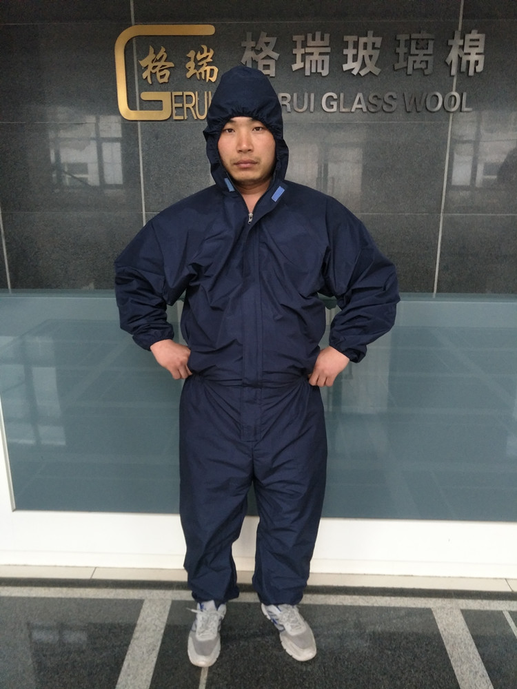 Siamese wool protective clothing fiber glass cotton padded clothes breathable rock rock dust coat
