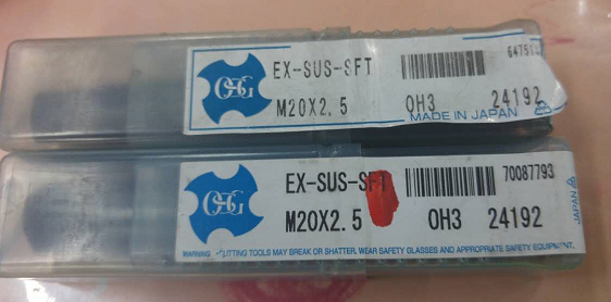 Japan OSG spiral taps 24192EX-SUS-SFT specifications M20X2.5 price need to confirm