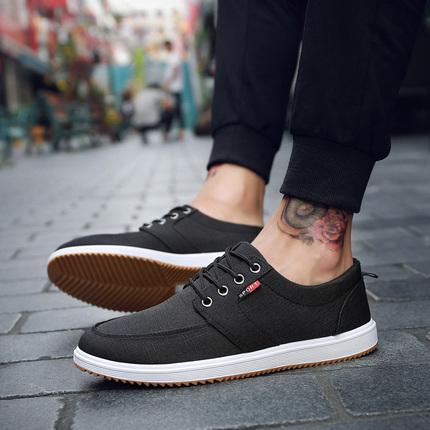 (889)经典夏季爆款男鞋子男士休闲透气帆布鞋韩版潮流学生板鞋