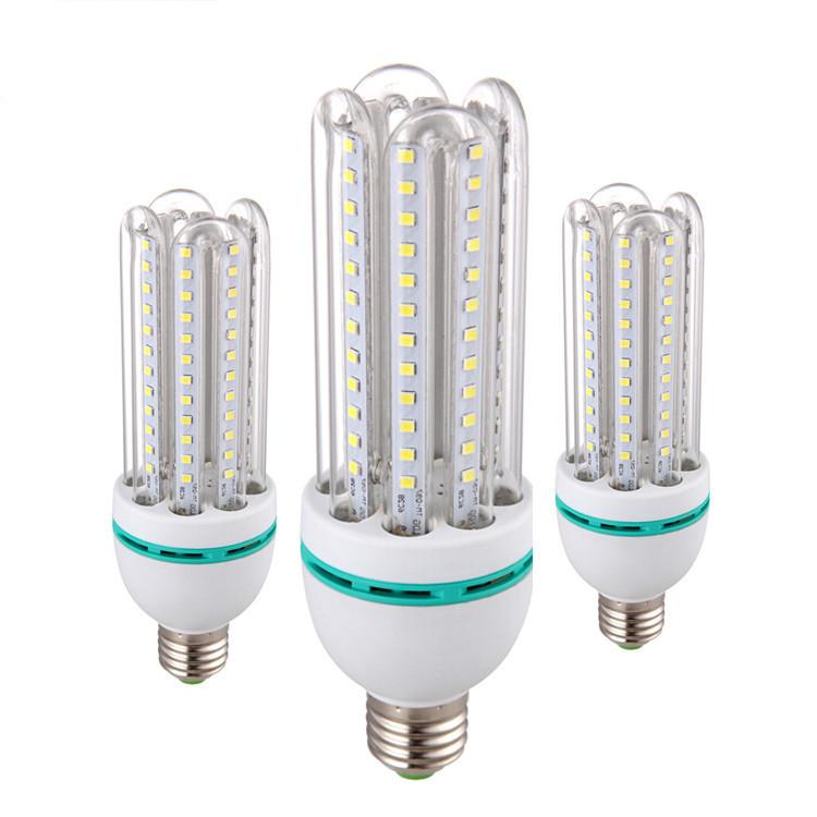 ثلاثة لون ضوء تغيير الصمام لمبة الذرة 2714 برغي صغير السوبر مشرق 12W18W المنزلية الموفرة للطاقة الإضاءة عالية الطاقة
