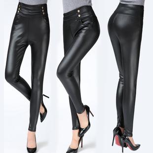 中老年女裤春秋装妈妈装显瘦裤子修身长裤中年女装大码高腰打底裤