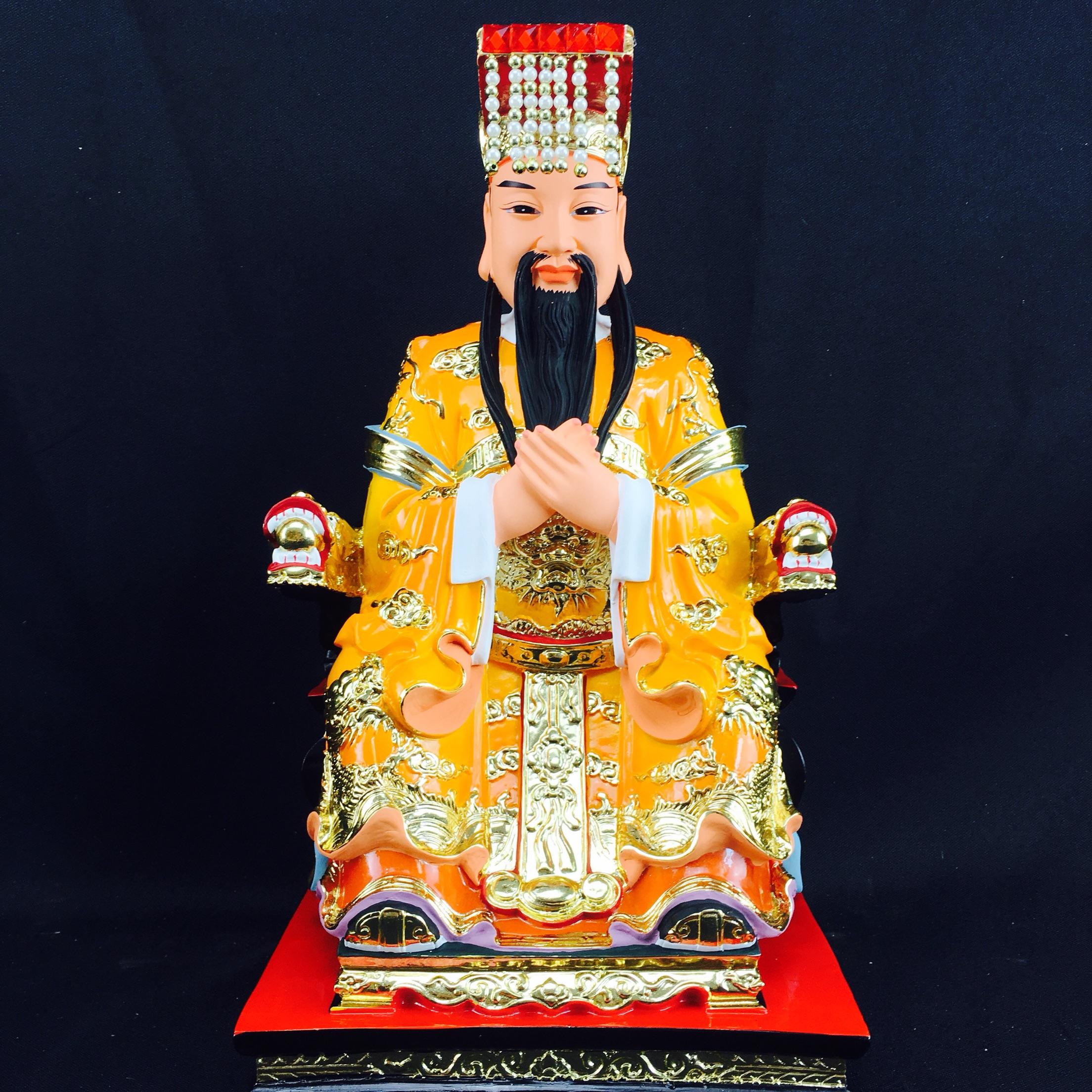 12寸玉帝神像道教天帝供奉風水化煞鎮宅平安家居客廳裝飾品工藝品擺件