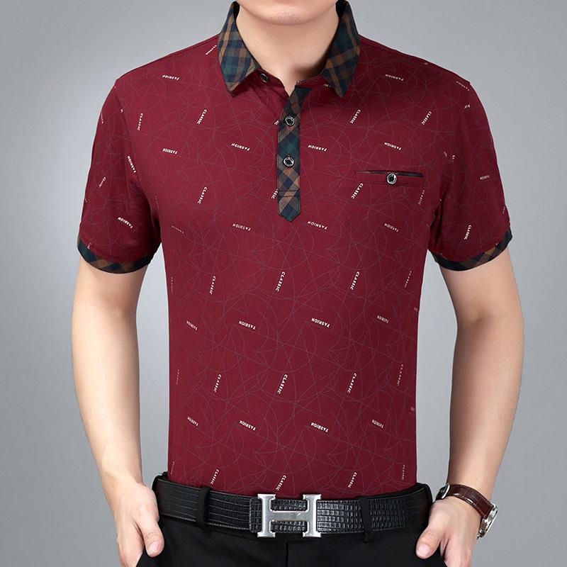 1309短袖酒红
