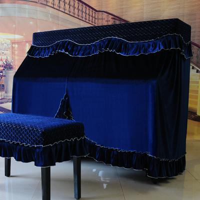 冰绒钢琴罩全罩韩国钢琴布盖布高档钢琴套防尘套凳套半罩现代简约