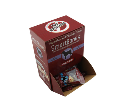 The SMARTBONES mini bone (chicken) 30 pack 99% digestibility of dog chews