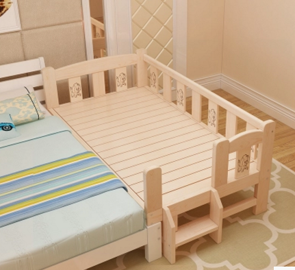 Shipping bed bed can widen the wood bed loose wooden bedstead bedplate lengthened single bed double bed splicing in children