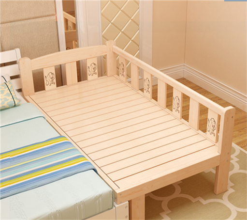 Shipping bed solid wood bed loose wooden bedstead widened widening bed lengthened children bed bed bed mosaic princess bed