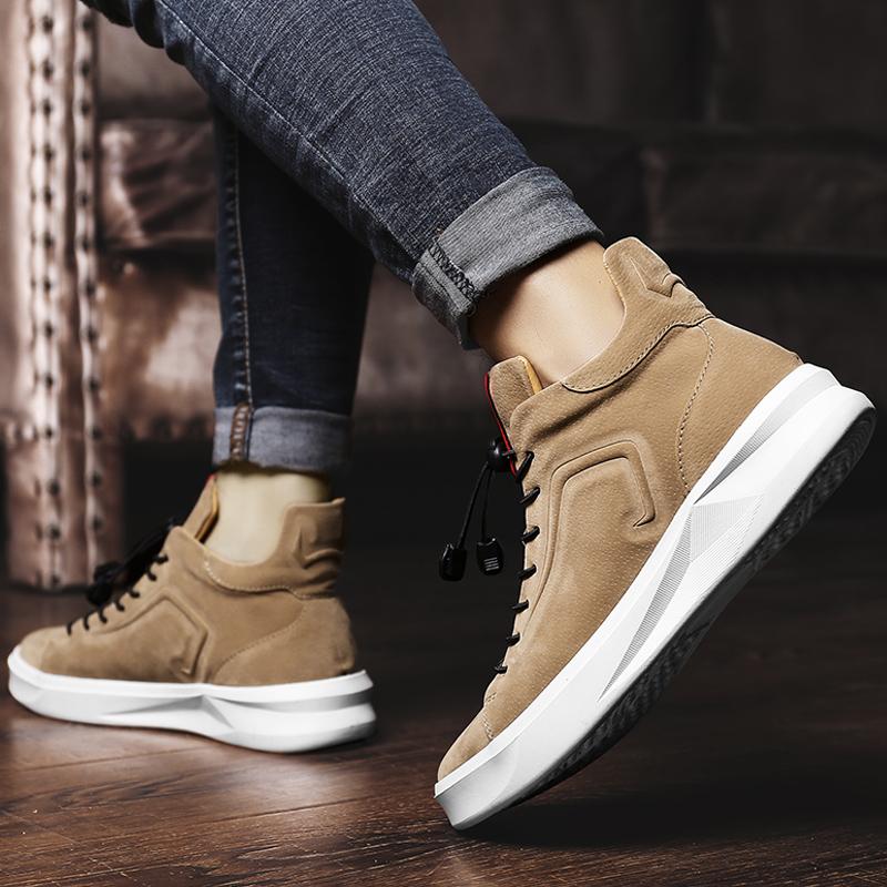 高帮鞋男鞋子潮鞋韩版潮流运动板鞋百搭休闲皮鞋冬季棉鞋大码