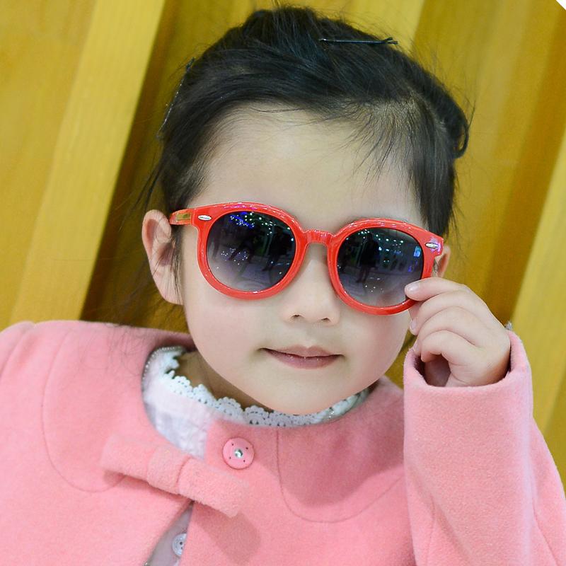 圆框儿童眼镜墨镜太阳镜男女童防紫外线韩国潮宝宝小孩蛤蟆镜