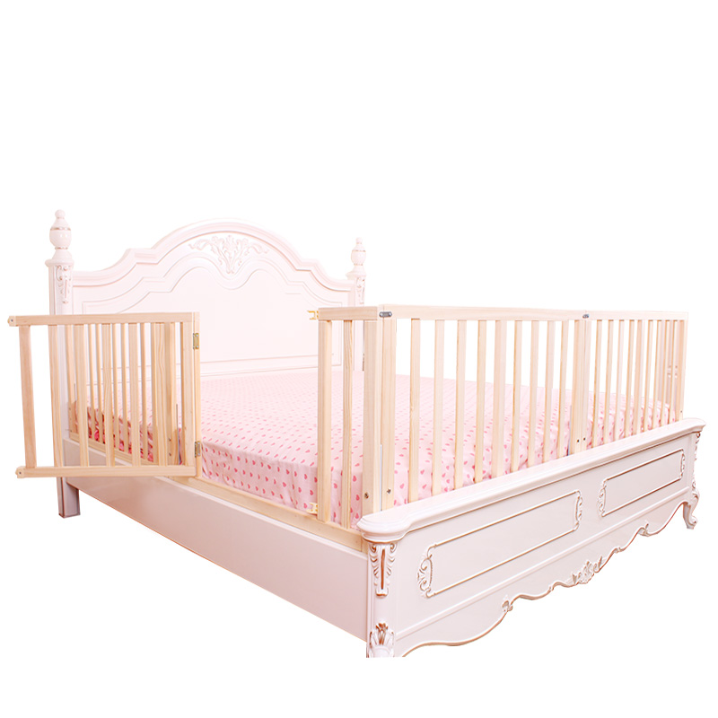 Solid wood, baby, baby, anti dropping bed, guardrail 2 meters, bedside 1.5 meters, bed fence 1.2 bed fence, children 1